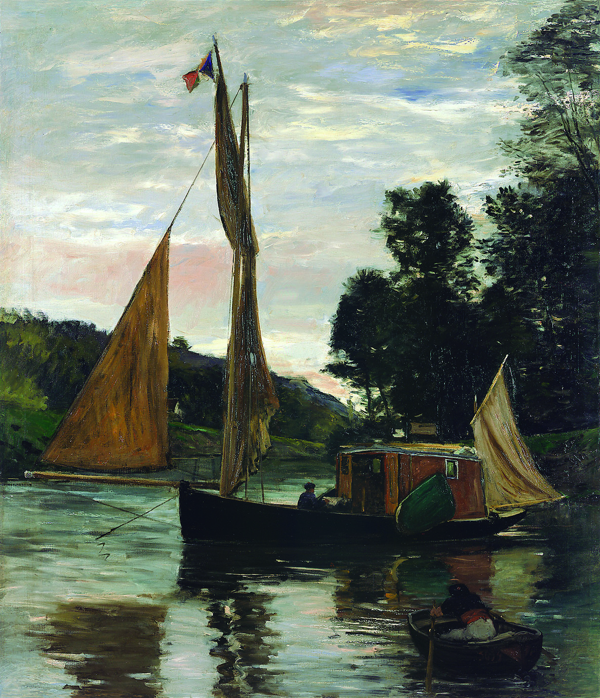 シャルル=フランソワ・ドービニー 《ボッタン号》 1869年頃 油彩/カンヴァス 171.5×147㎝ フランス、個人蔵 (C)Archives Musées de Pontoise