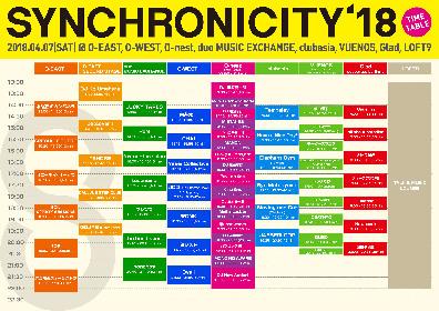 『SYNCHRONICITY'18』フレンズ、Yasei Collectiveら最終ラインナップを発表 タイムテーブルも公開に