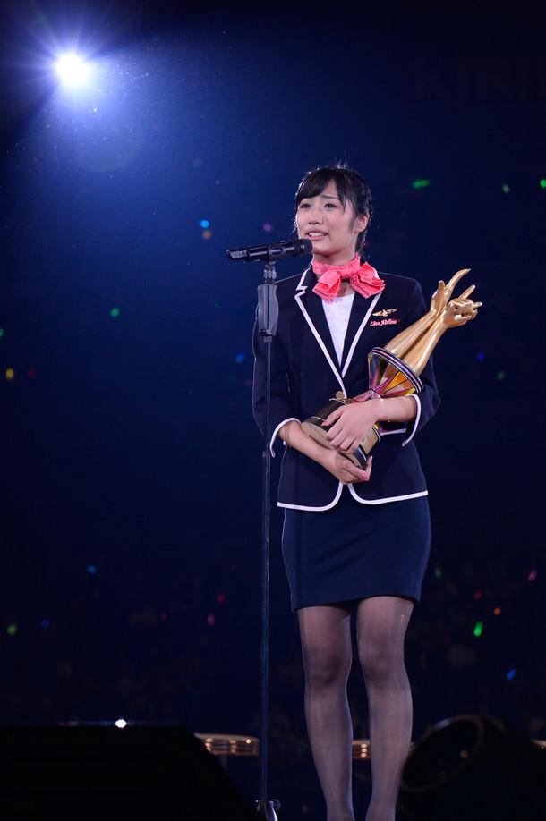 じゃんけん女王に輝いた藤田奈那。 (c)AKS
