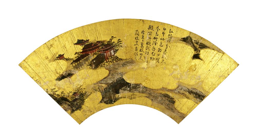 扇面画帖 一帖 室町~桃山時代 15~16世紀 奈良国立博物館 (撮影:森村欣司)
