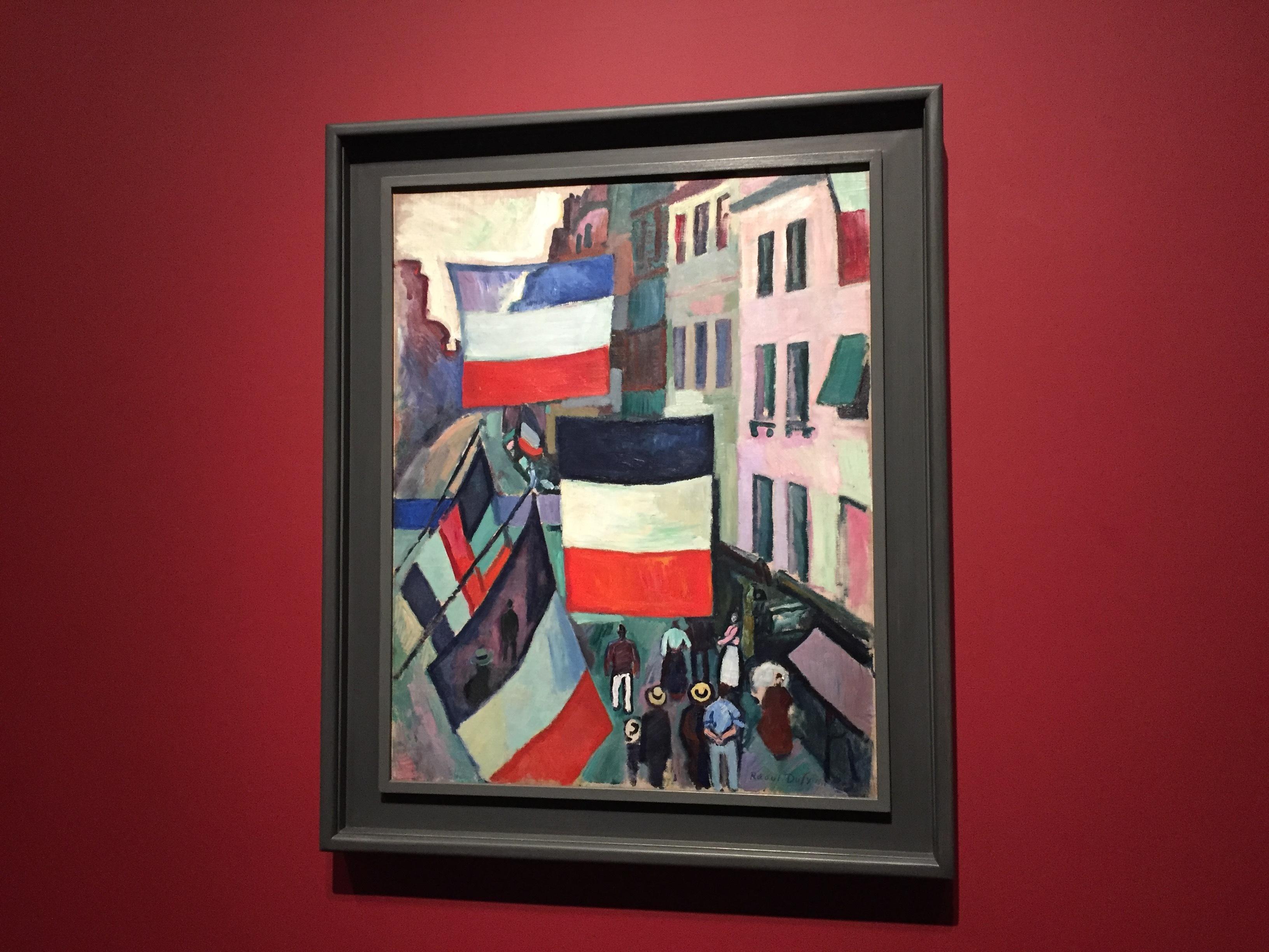 ラウル・デュフィ《旗で飾られた通り》1906年 ⓒgirls Artalk