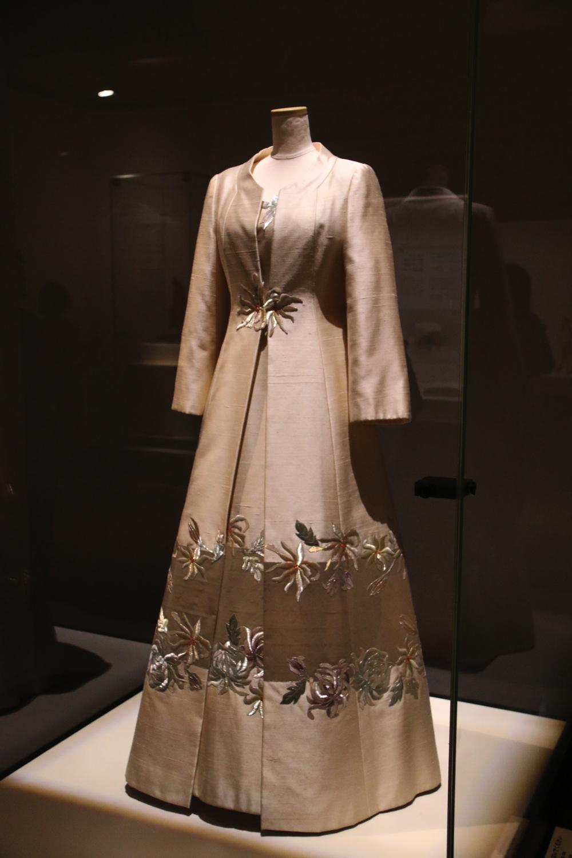 イヴニングドレス、コート 昭和時代・20世紀 宮内庁侍従職所管 前期展示