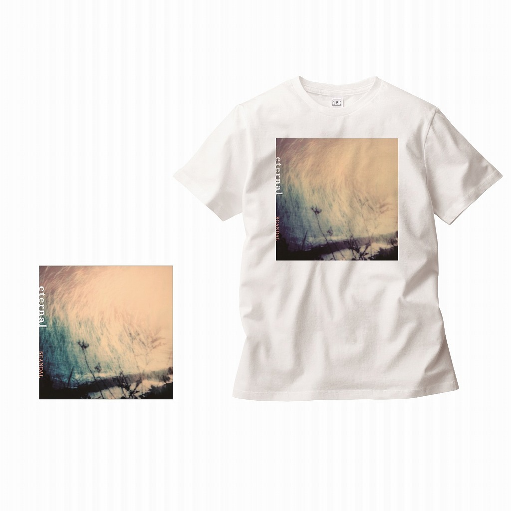 「eternal」ジャケット写真がプリントされたTシャツ付のCD