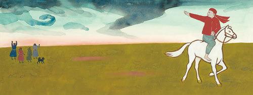 赤羽末吉《スーホの白い馬》1969年 ちひろ美術館蔵 ⓒSuekichi AKABA