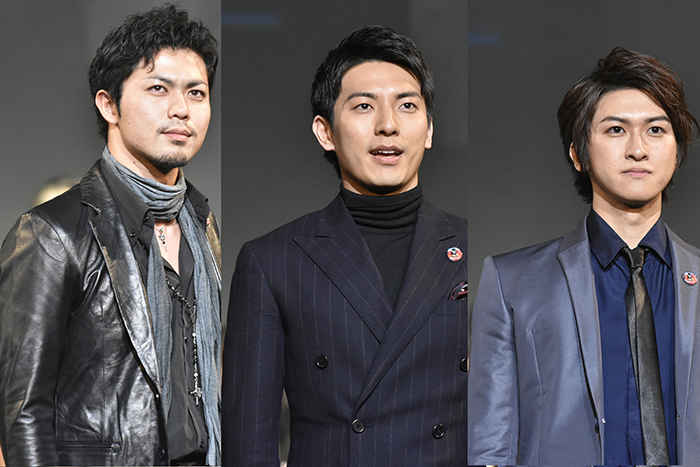 (左から)上原理生、上山竜治、相葉裕樹 (撮影:原地達浩)