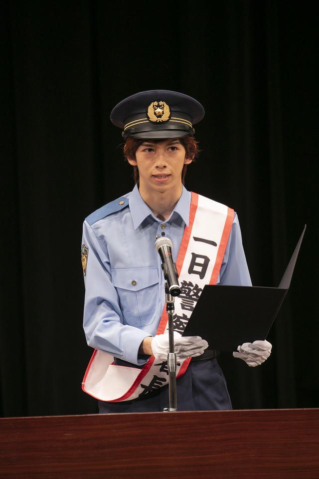 リョウガ署長(撮影:米山三郎)