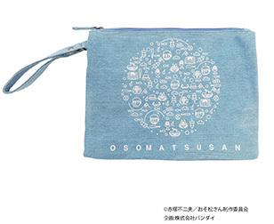 おそ松さんミニクラッチ ¥2,490/ホワイト・ブルー系