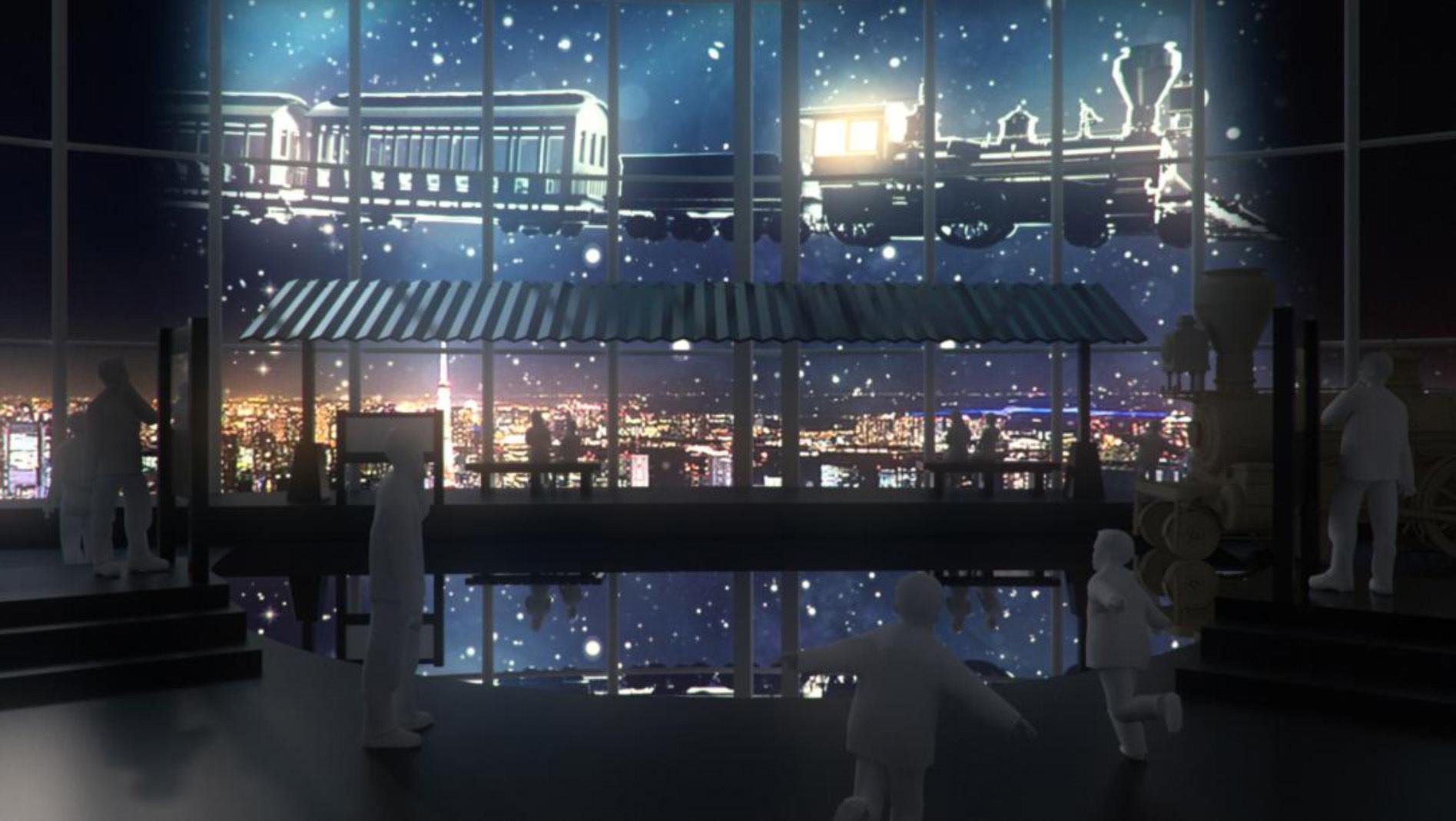 天空駅:夜(イメージ)