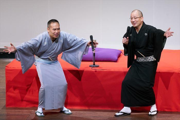 (左から)三遊亭天どん、春風亭一之輔