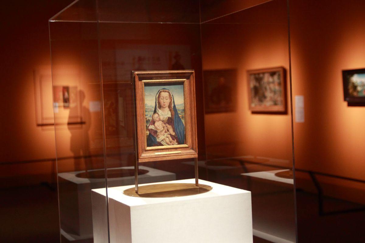 作者不詳《風景の中の聖母子》1480年頃、油彩、板