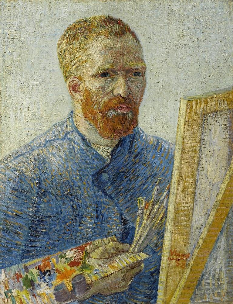 フィンセント・ファン・ゴッホ《画家としての自画像》1887年、油彩・カンヴァス、 ファン・ゴッホ美術館(フィンセント・ファン・ゴッホ財団)蔵 ⓒVan Gogh Museum, Amsterdam(Vincent van Gogh Foundation)