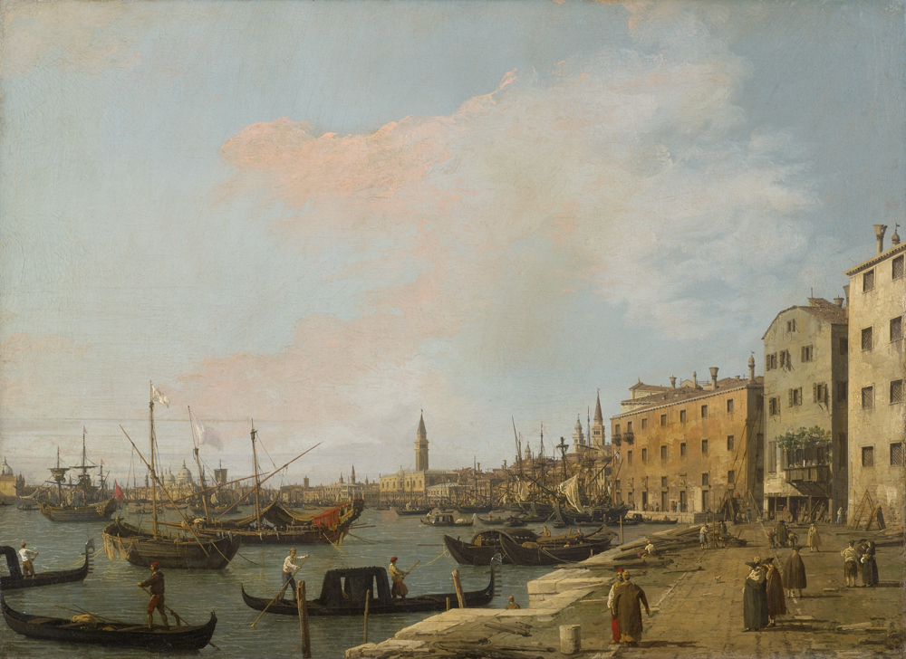 カナレット (通称) 《ヴェネツィアのスキアヴォーニ河岸》 1730 年頃 油彩・キャンヴァス