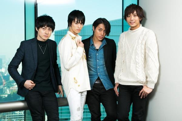 (左から)松村龍之介、眞嶋秀斗、沖野晃司、中尾拳也