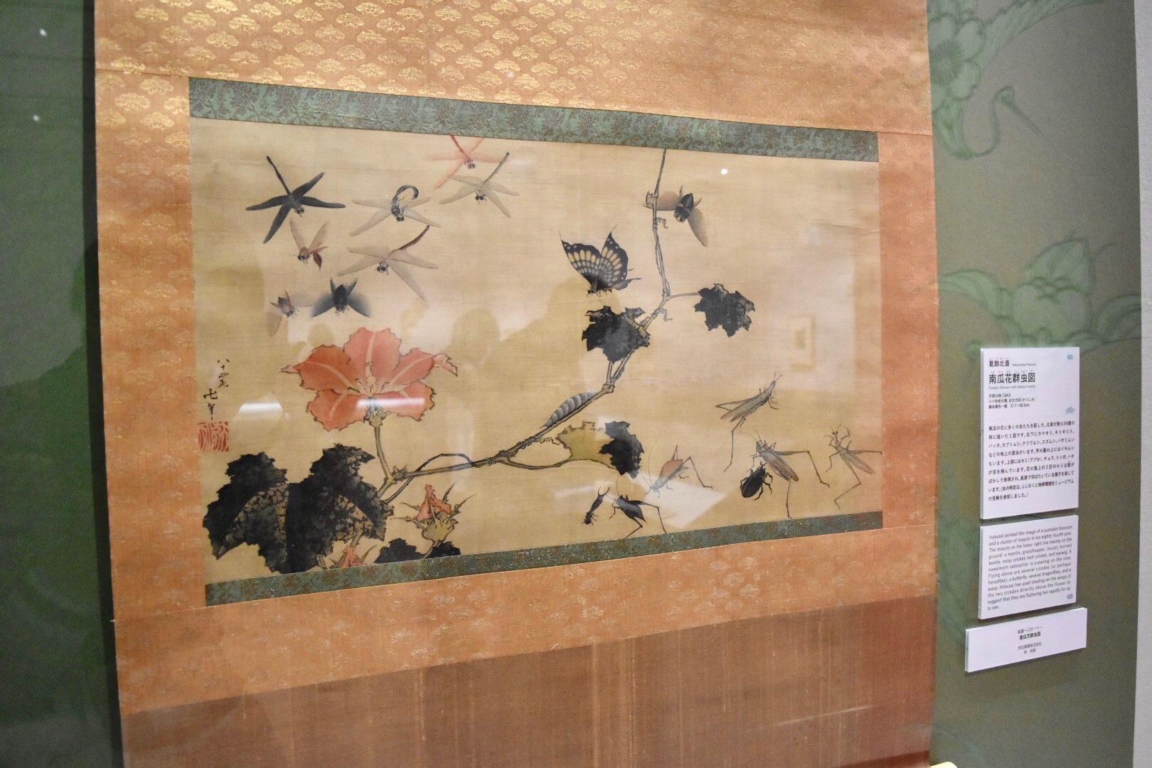 葛飾北斎 《南瓜花群虫図》 天保14年(1843) すみだ北斎美術館所蔵