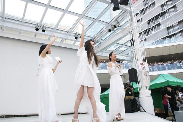 「Kalafina ニューアルバム『far on the water』 発売記念イベント」の様子。