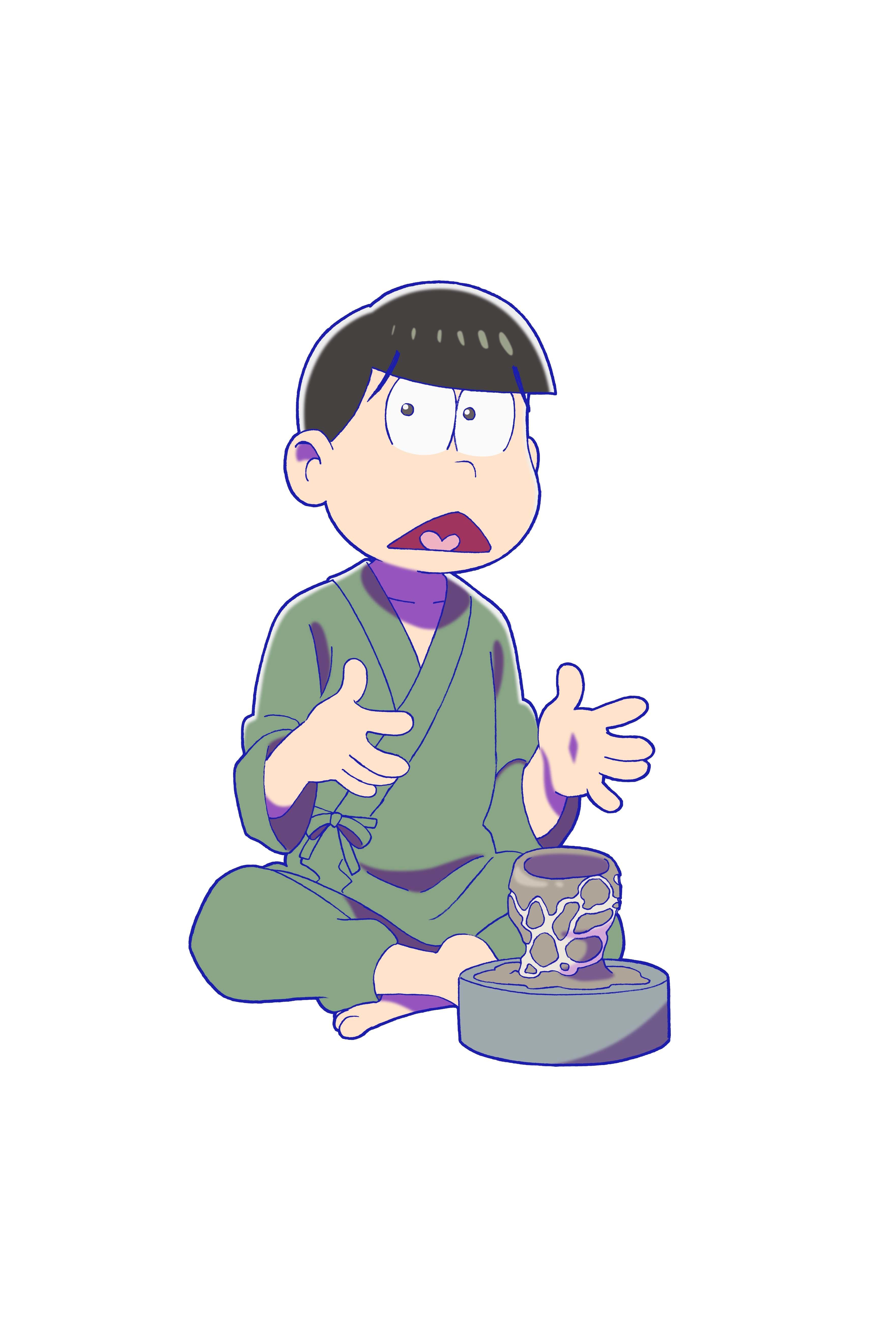 チョロ松×唐津焼 ©赤塚不二夫/おそ松さん製作委員会