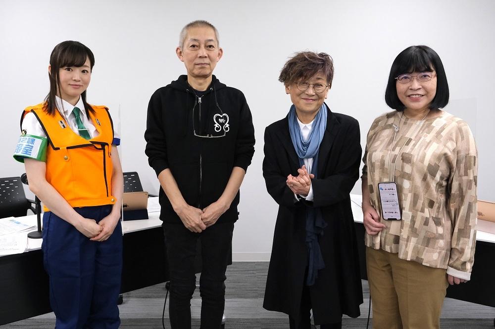左から喜屋武ちあき、伊藤和典、榊原良子、高田明美
