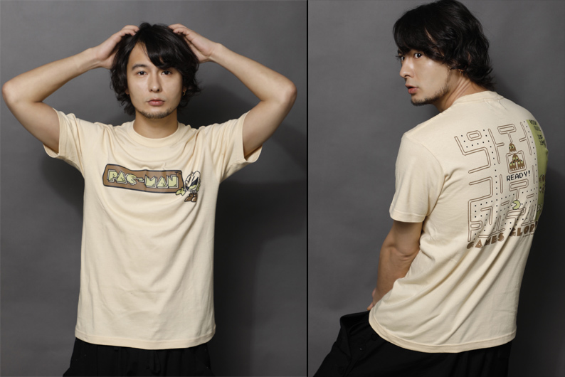 Tシャツ 定価:¥3,996 (税込) PAC-MAN(C) (C)BANDAI NAMCO Entertainment Inc. (C) GAMES GLORIOUS Inc.
