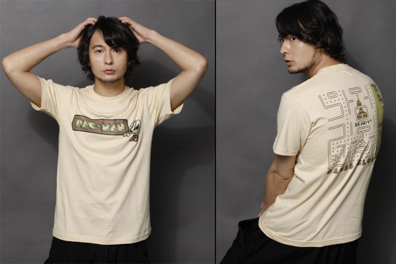 Tシャツ 定価:¥3,996 (税込) PAC-MAN(C) (C)BANDAI NAMCO Entertainment Inc. (C) GAMES GLORIOUS Inc.