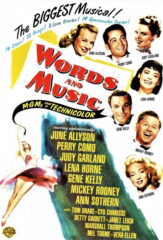 ロジャーズ&ハートの伝記映画「ワーズ&ミュージック」(1948年)のDVD(輸入盤ジャケット)
