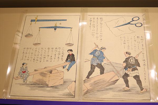 教育錦絵『単純器械』 出版年不詳、国立科学博物館所蔵