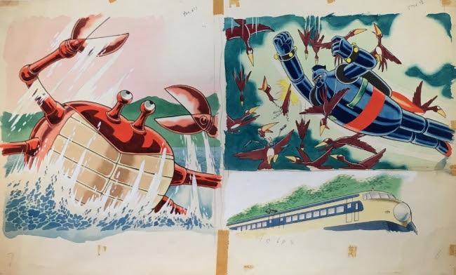 横山光輝 MITUTERU YOKOYAMA 「鉄人28号」 肉筆原画