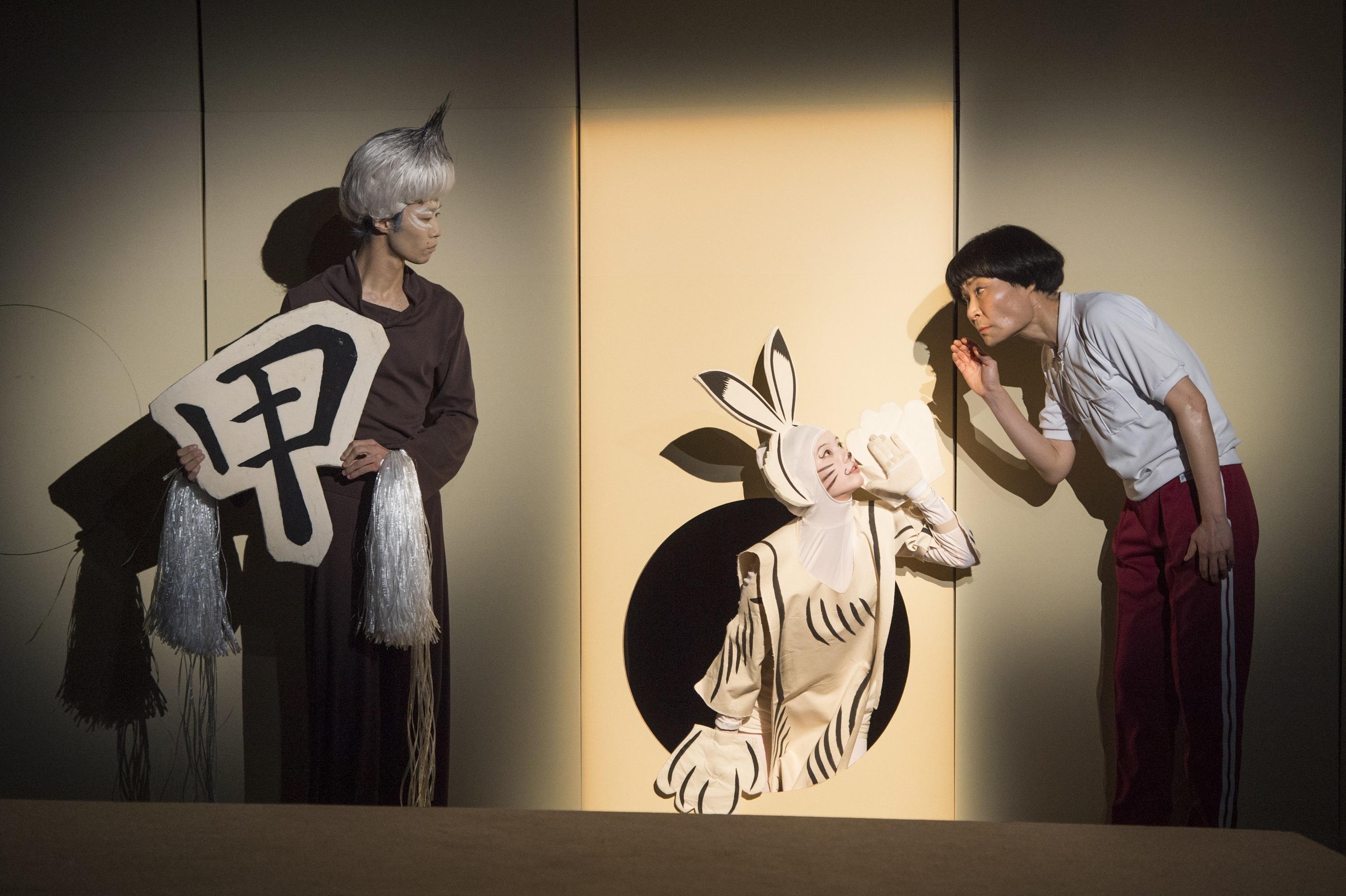「せたがやこどもプロジェクト2015」スズキ拓朗演出/おどるマンガ『鳥獣戯画』 (撮影:引地信彦)