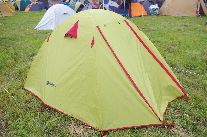 初キャンプ、初テント
