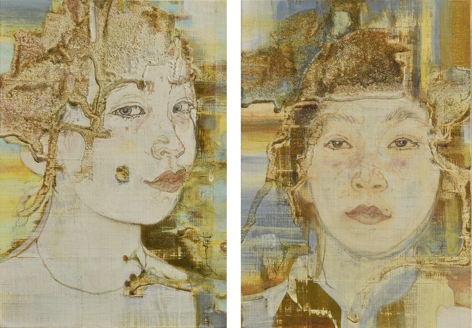 作家名:國司 華子  作家英語名:Kunishi Hanako 作品名:顔Ⅲ / 顔Ⅳ 作品英語名:Face III / Face IV 店名:鈴木美術画廊