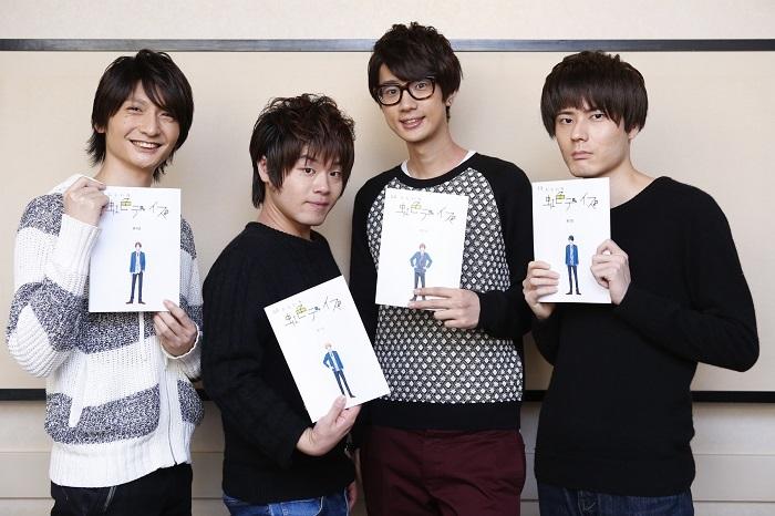 左から島﨑信長さん、松岡禎丞さん、江口拓也さん、内山昂輝さん