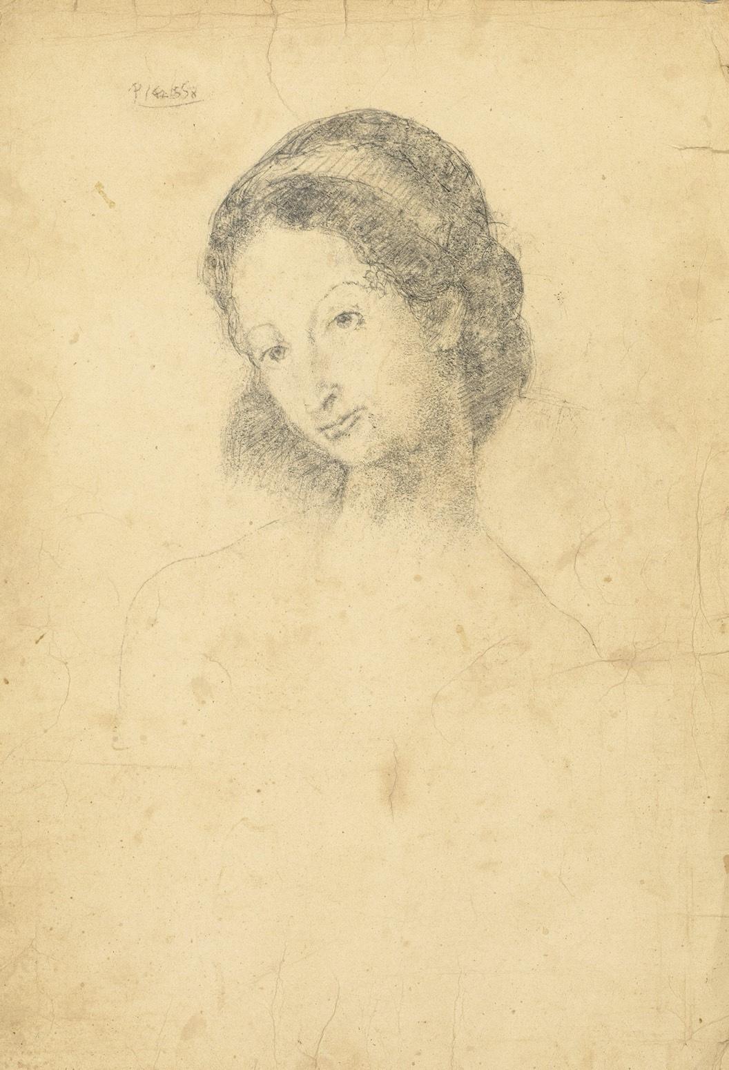 《チャールズ モリースの娘の肖像》パブロ・ピカソ 68×48cm 紙に鉛筆 1906年