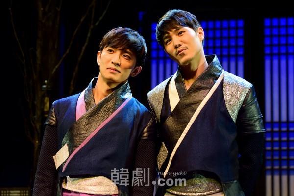サダム役のユン・ナムとヨル役のイ・ユル