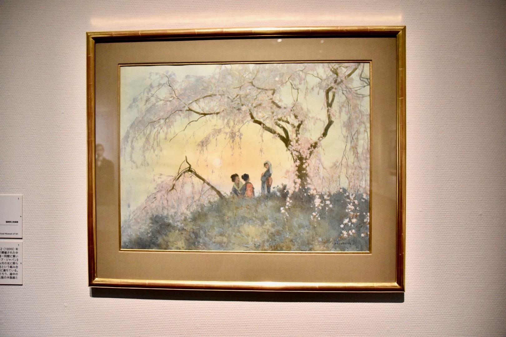 《雲井桜》1899年頃 福岡県立美術館蔵(前期展示:1月26日〜2月28日)
