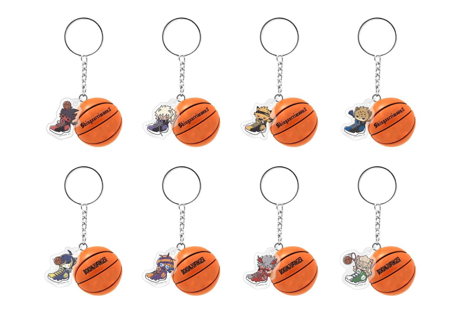 トレーディングミニバスケットボールキーホルダー(全8種) (C)2012,2020 SANRIO CO.,LTD. SHOWBYROCK!!製作委員会M