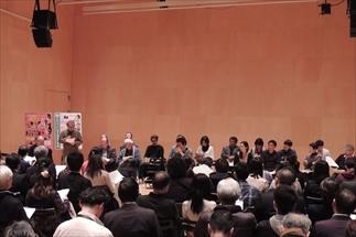 演出家・劇作家ら15名が公演にかける思いを語った (写真提供:座・高円寺)