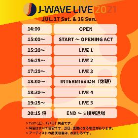 "『J-WAVE LIVE 2021』オープニングアクトにDoulとeillの出演が決定 両日のタイムテーブル""枠""も発表に"