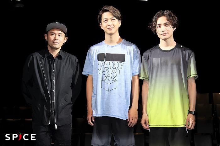 (左から)TETSUHARU、寺西拓人、矢田悠祐