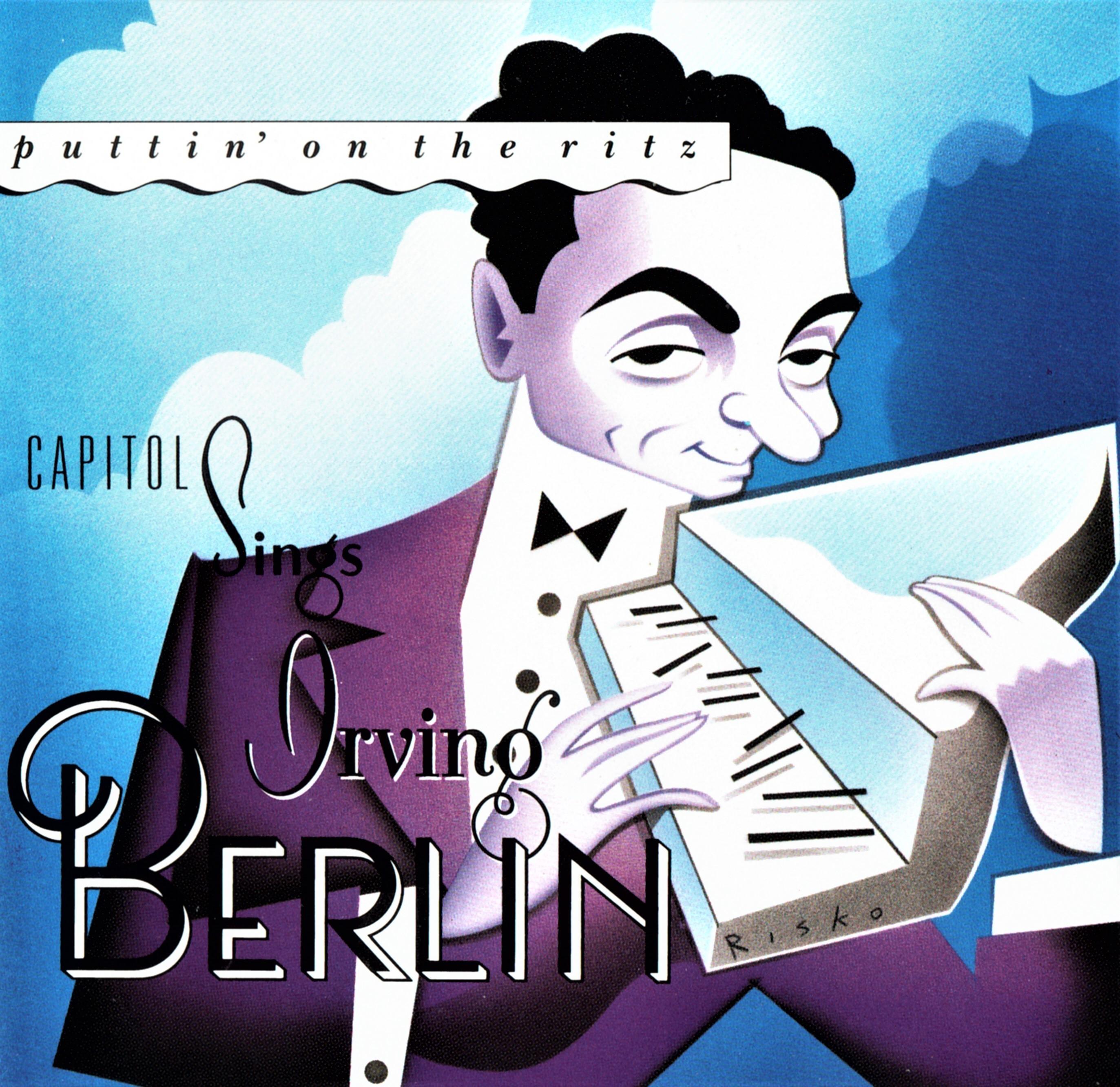 作詞作曲家アーヴィング・バーリンの似顔絵をあしらった名曲集CD(輸入盤)