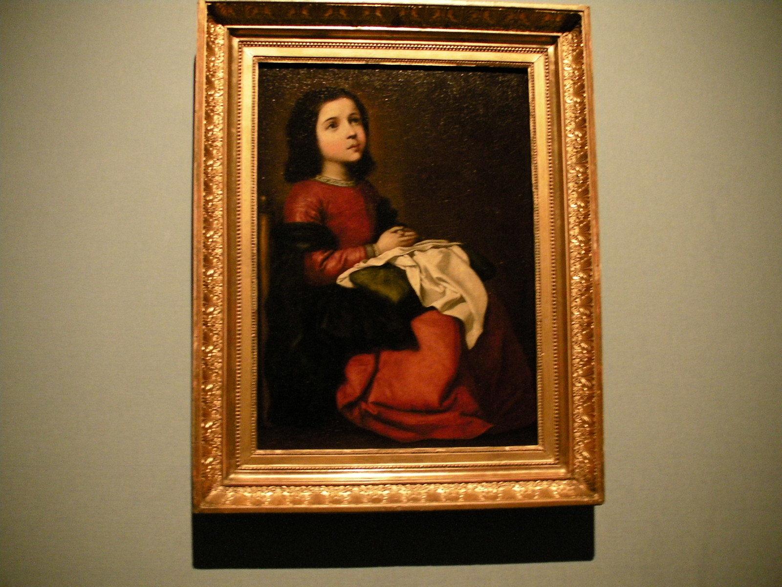 フランシスコ・デ・スルバラン《聖母マリアの少女時代》(1660年頃)