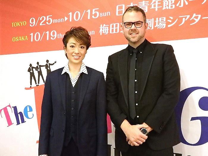 ミュージカル・コメディ『パジャマゲーム』取材会にて(撮影/石橋法子)