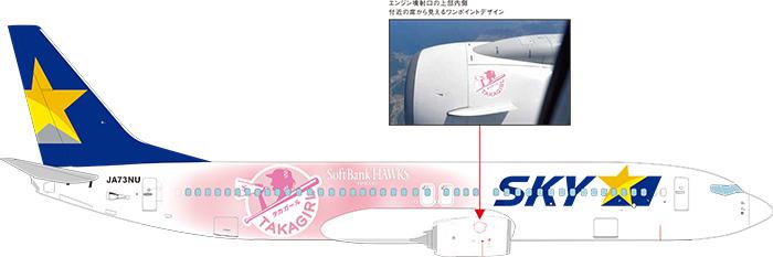 「タカガールジェット」の機体右側面