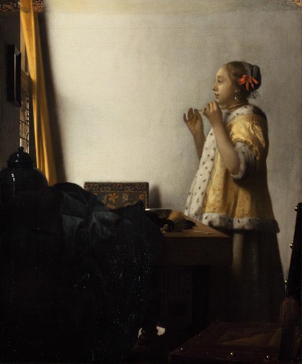 ヨハネス・フェルメール《真珠の首飾りの女》1662-1665年頃