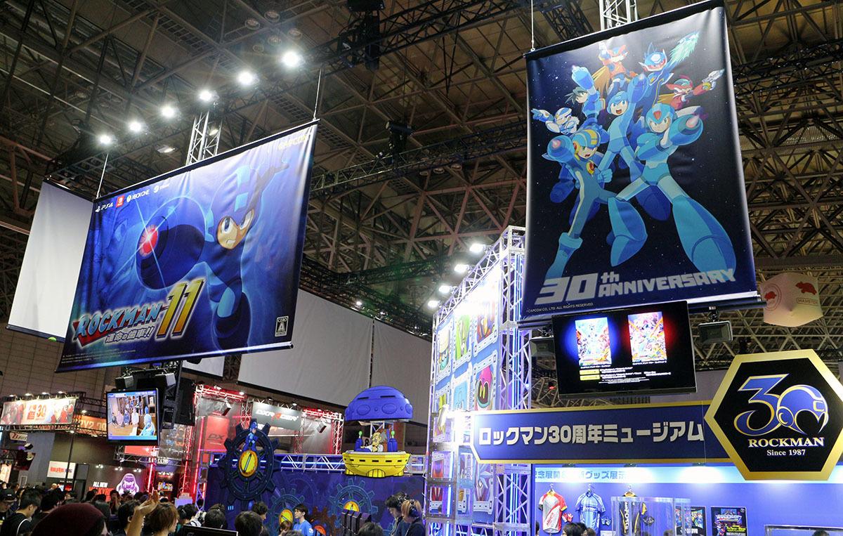 『ロックマン11 運命の歯車!!』発売を記念してミュージアムも開設/撮影:梅田勝司