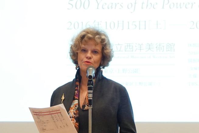 ウィーン美術史美術館ザビーネ・ハーク館長の主催者挨拶
