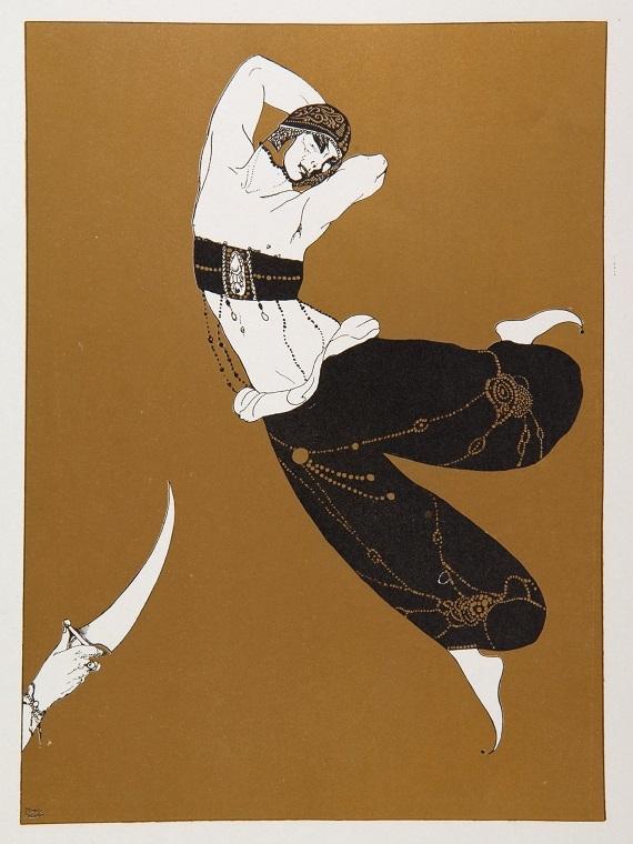 ロベルト・モンテネグロ『シェエラザード』/限定書籍『ワツラフ・ニジンスキー:黒・白・金で彩られた作品の芸術的解釈』イギリス1913年