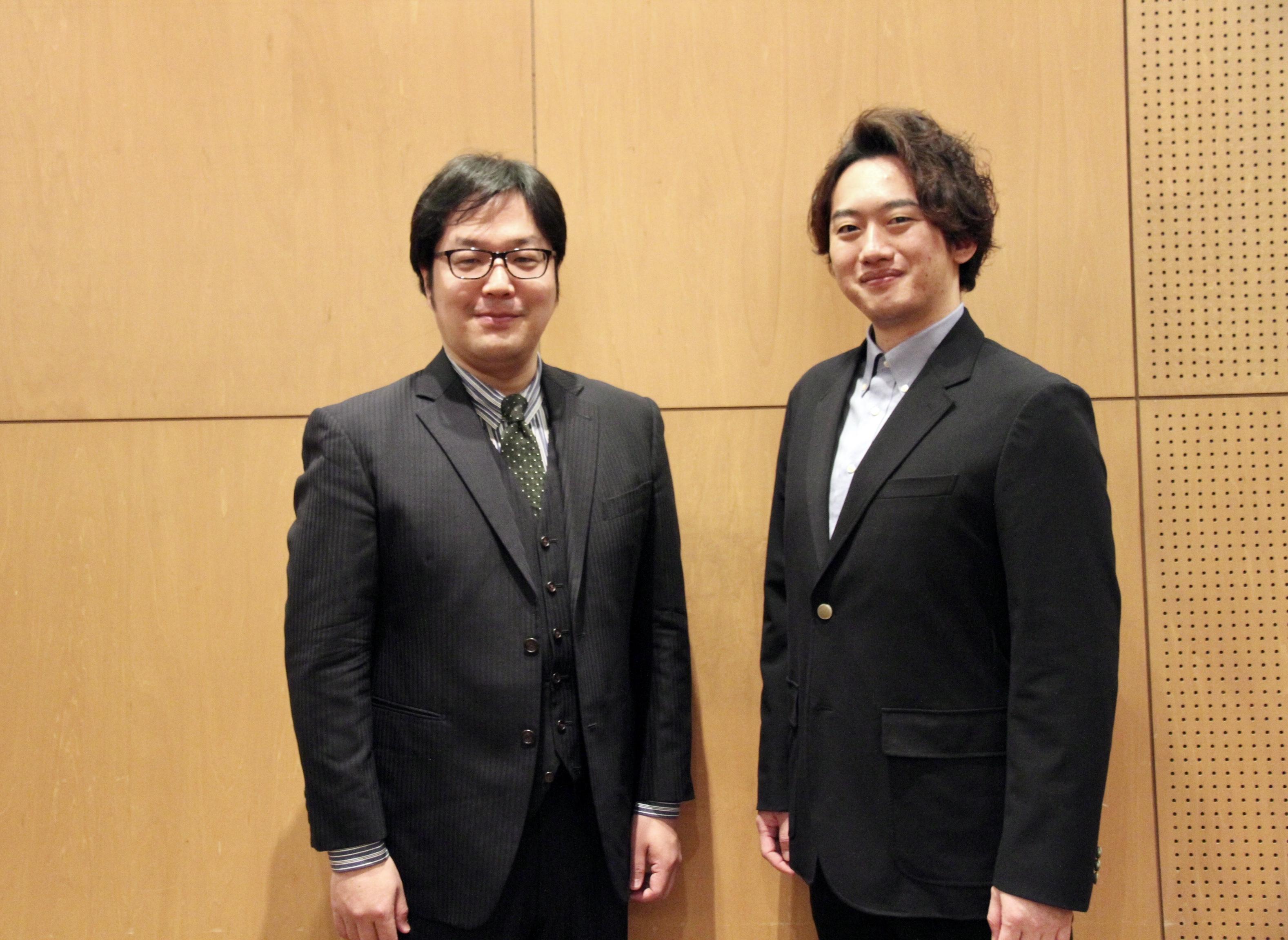 平欣史(右)と清水徹太郎     (C)H.isojima