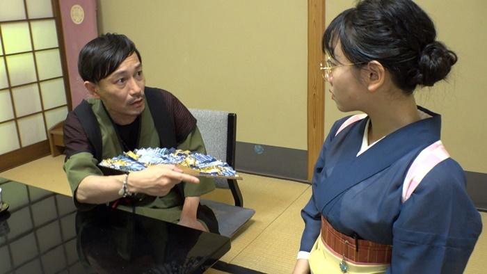 ケース3『貴船スターシップ』京都の避暑地・貴船の料理旅館で起こる陰謀と恋の物語を、旅館中をフルに使って描き出す。
