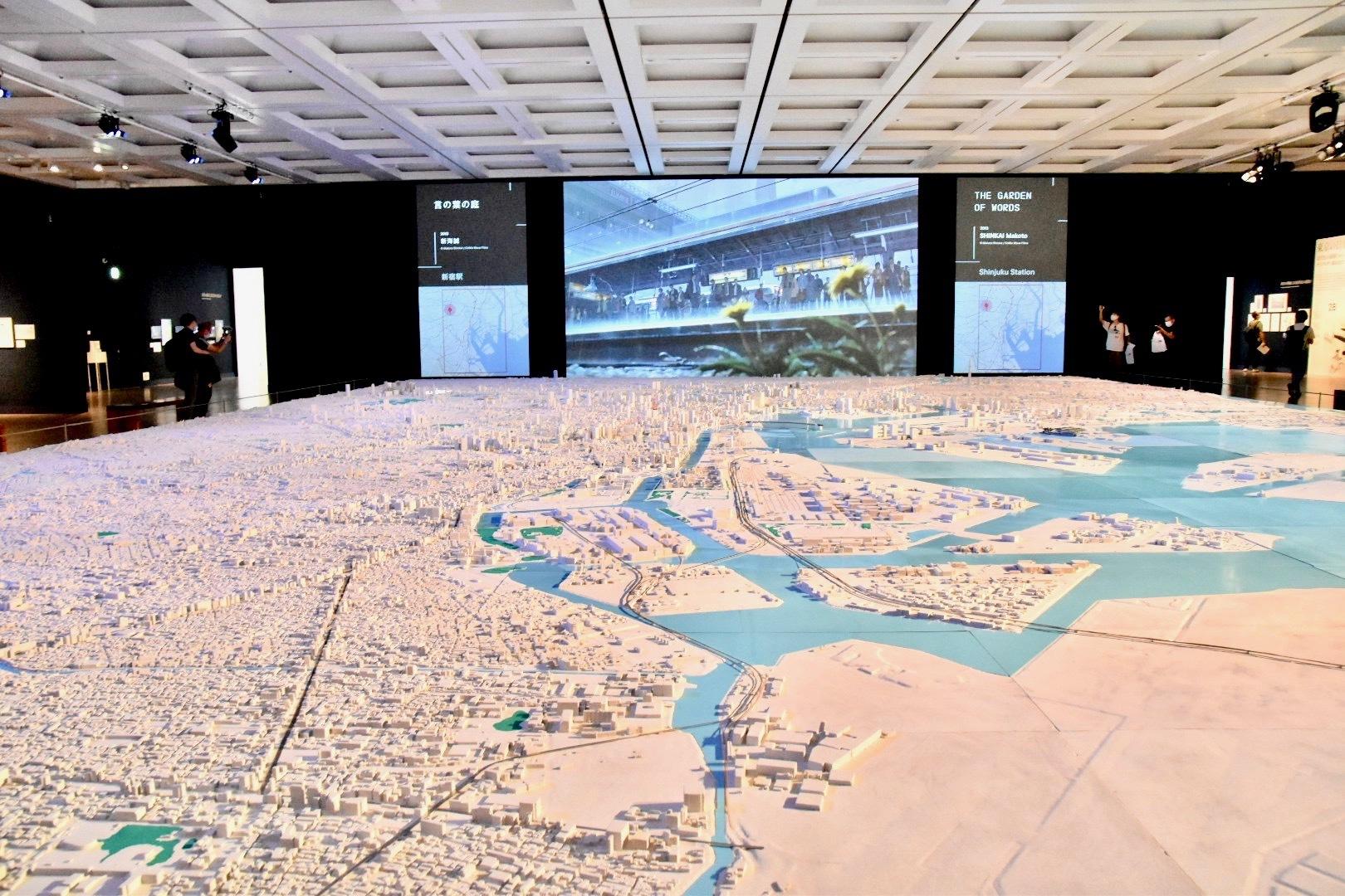 1/1000 巨大東京都市模型 インスタレーション