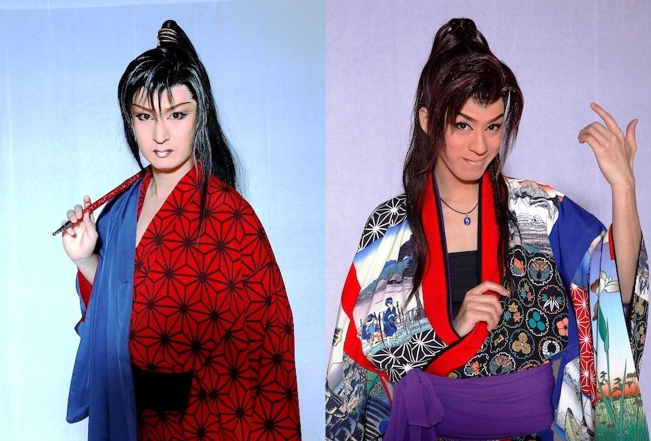 桜春之丞座長(左)・三代目桜京之介座長(右)©劇団花吹雪