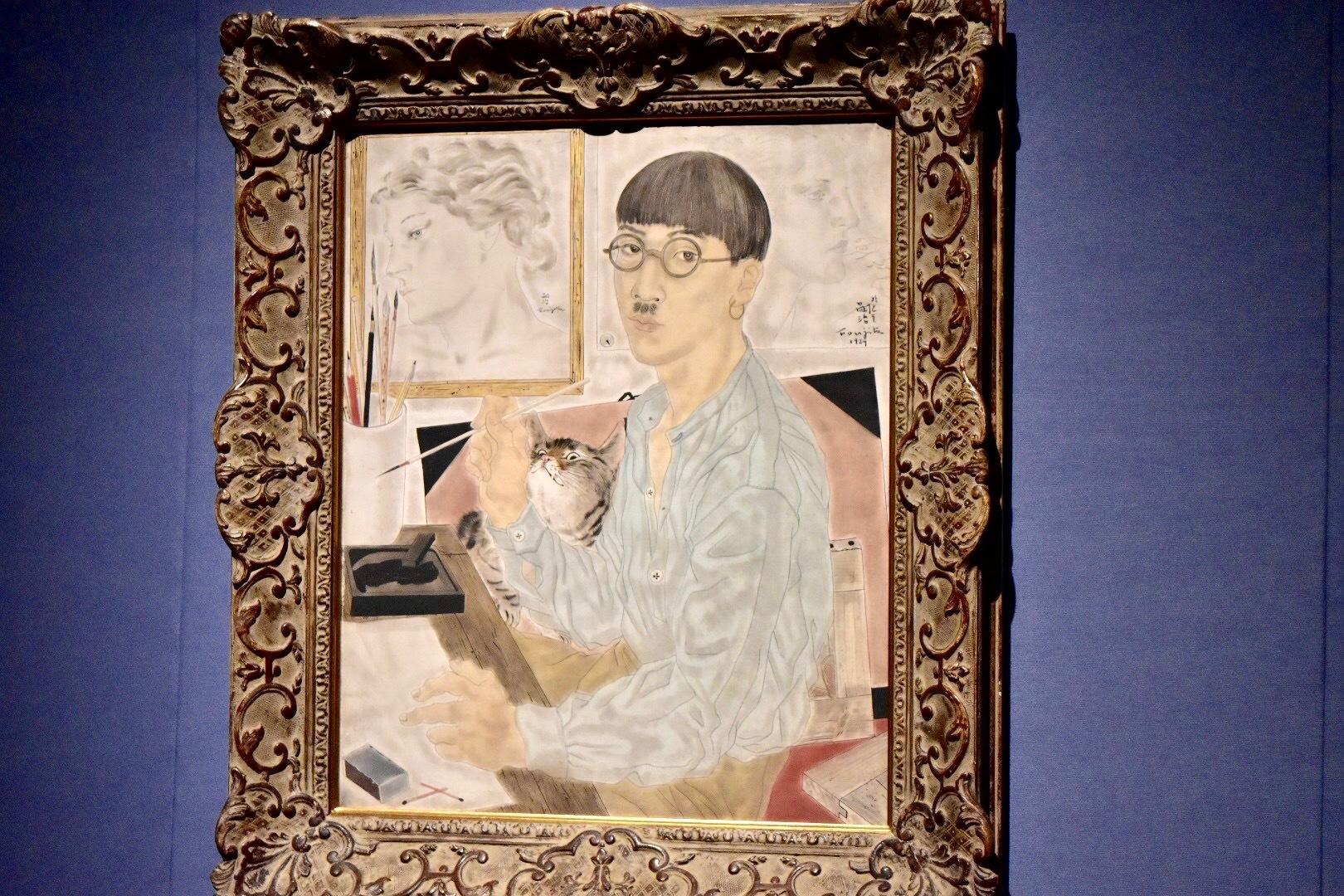 《自画像》1929年 東京国立近代美術館蔵 (C) Foundation Foujita / ADAGP , Paris & JASPAR , Tokyo , 2017 E2833